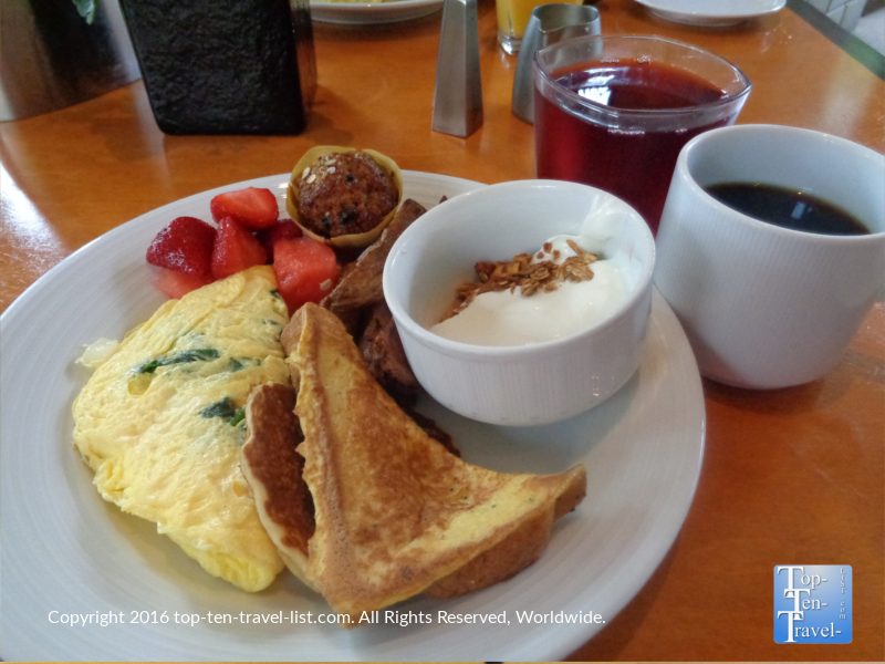 Breakfast buffet at Frank & Alberts inside The Arizona Bitmore