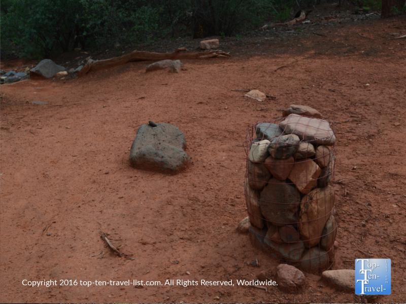 Cairn marking the Jim Thompson trail in Sedona AZ