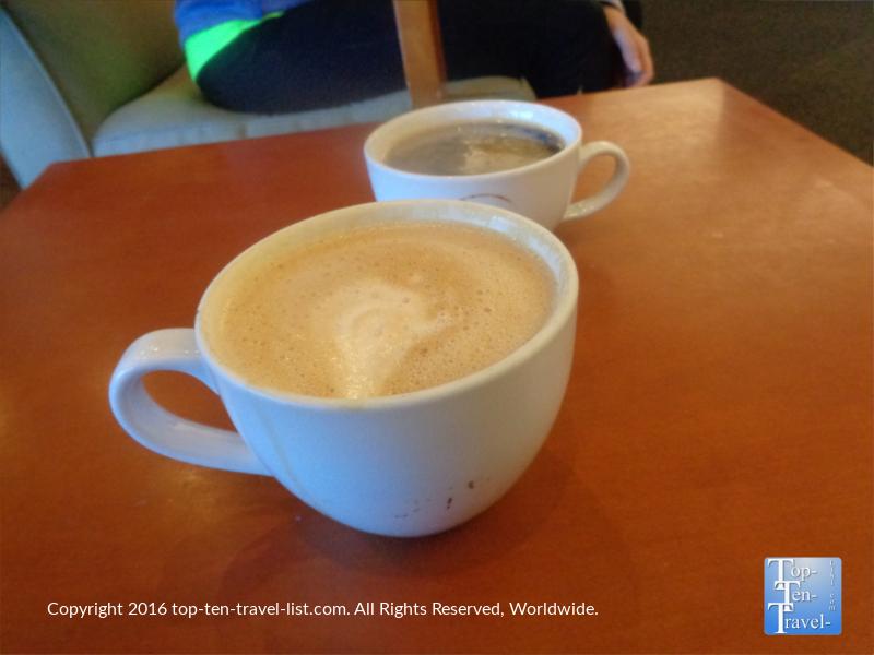 Creamy mocha at Bookmans Cafe in Flagstaff AZ
