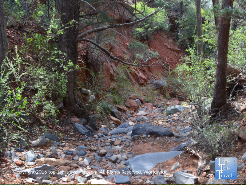 Dried up creek on the Wilson Canyon hike in Sedona AZ