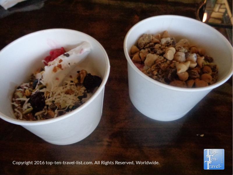 Frozen yogurt at Cultured in Flagstaff AZ
