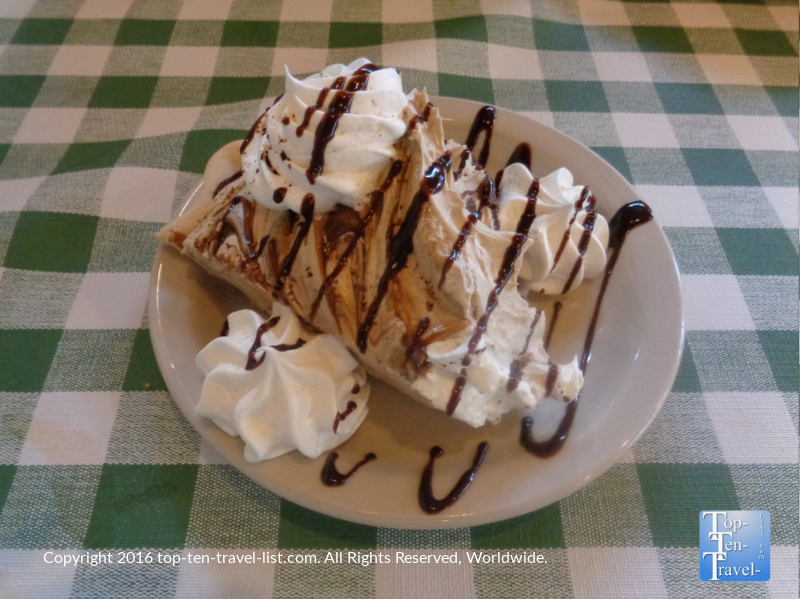 Pine Country offers several dozen varieties of pie each day! These airy whipped treats go great with a drink from their Giddy Up and Go espresso bar!