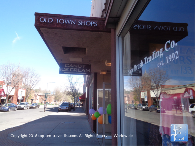 Old Town Shops in downtown Flagstaff
