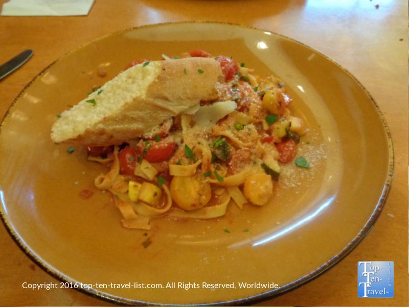 Pasta plate at Frank & Alberts inside The Arizona Bitmore