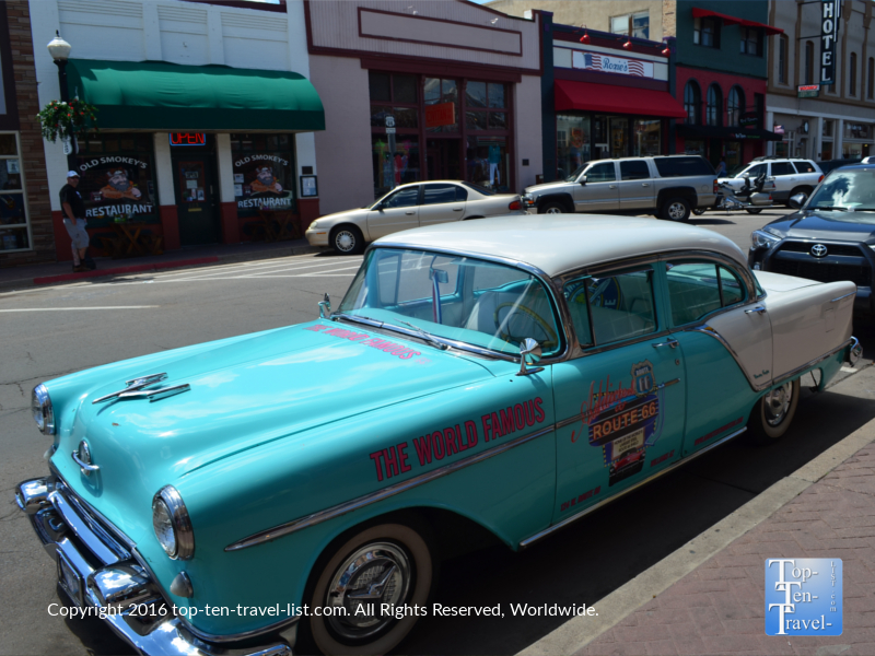 Route 66 car in downtown Williams
