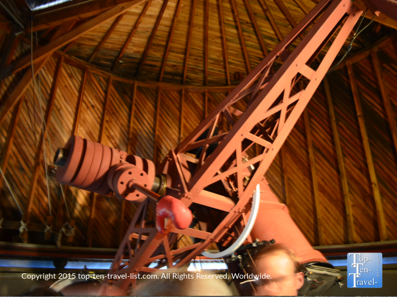 The famous Pluto telescope at the Lowell Observatory in Flagstaff, Arizona