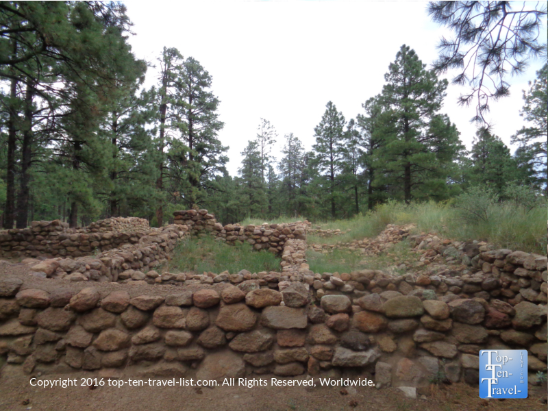 Historic Elden Pueblo ruins in Flagstaff, Arizona