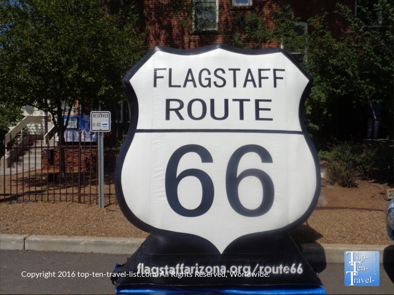 Route 66 photo opp in downtown Flagstaff