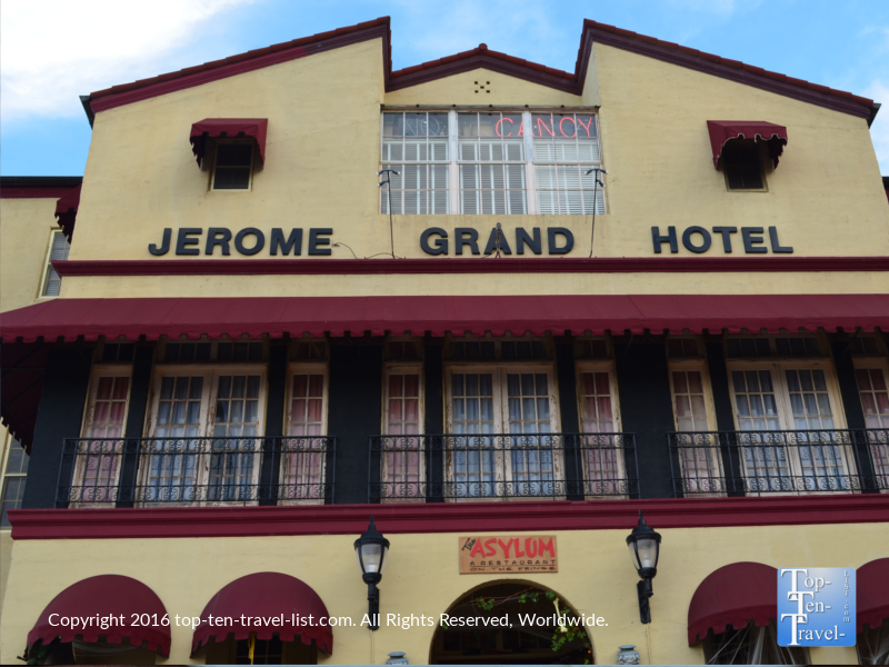 The Jerome Grand Hotel - haunted places in Arizona