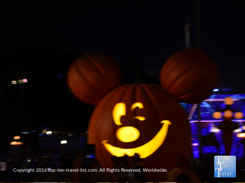 Giant Mickey Jack O'Lantern at Disneyland for Mickey's Not So Scary Halloween Party