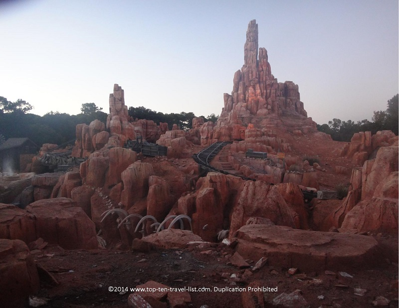 Big Thunder Mountain Roller Coaster at Disneyland