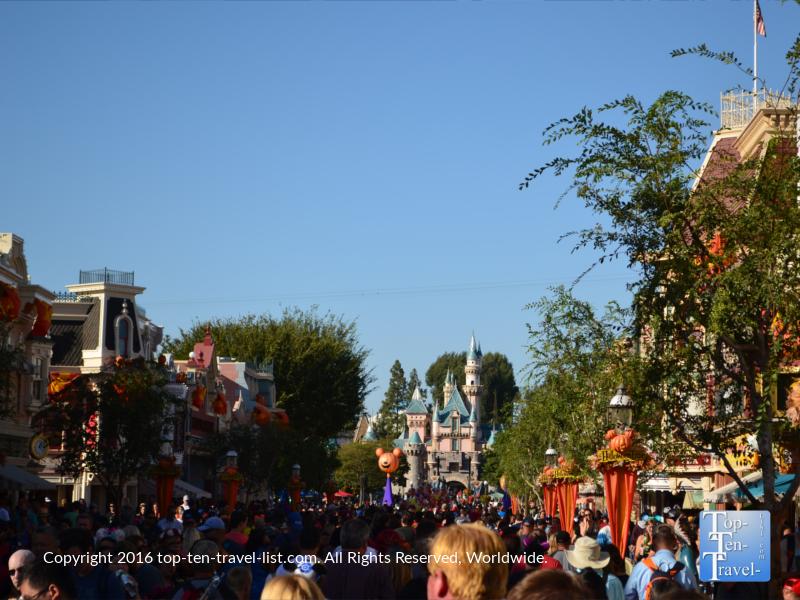 Halloween decor at Disneyland park