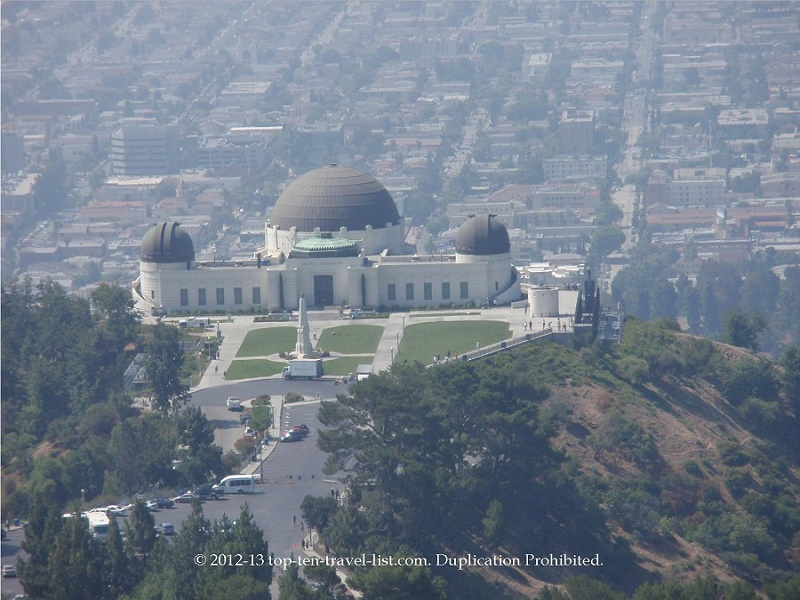 The beautiful Griffith Observatory in LA