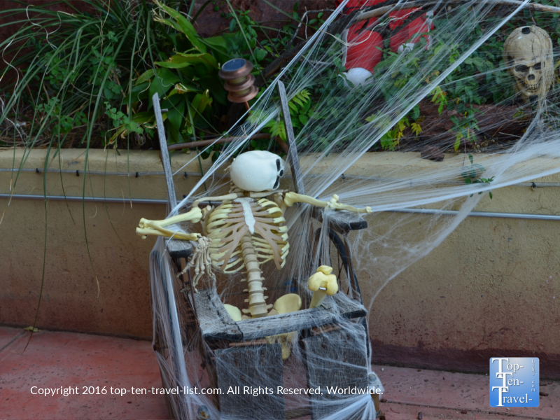 Halloween decor at The Asylum Restaurant in Jerome, Arizona