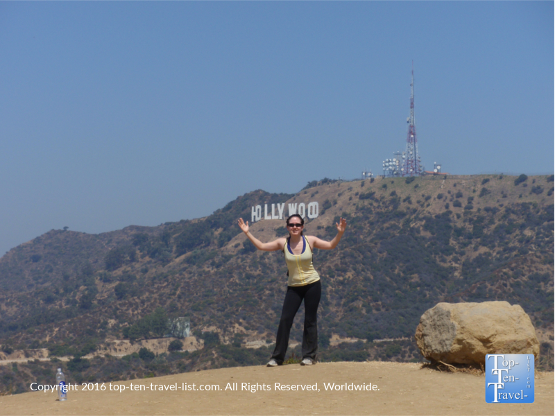 holding-the-hollywood-sign-at-griffith-park
