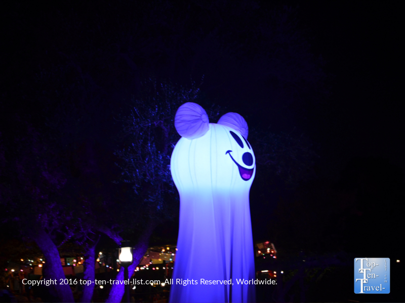 Mickey ghost at Mickey's Not So Scary Halloween Party at Disneyland