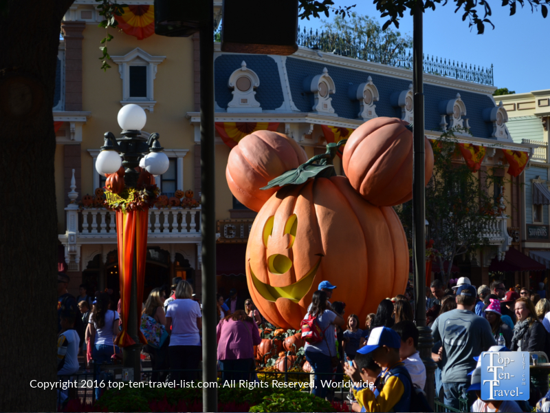 Giant Mickey Halloween Pumpkin at Disneyland for Mickey's Not So Scary Halloween Party