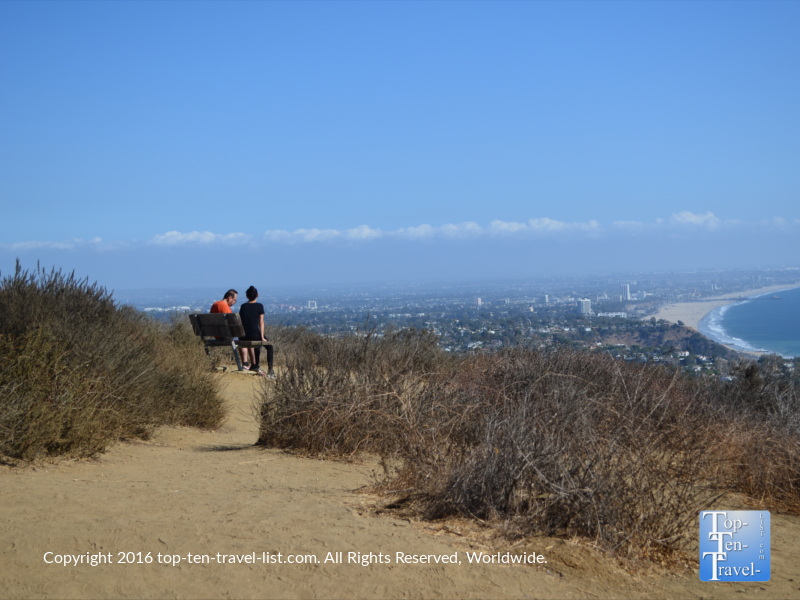 relaxing-with-great-coastal-views-at-an-overlook-on-the-los-liones-trail-in-los-angeles-ca