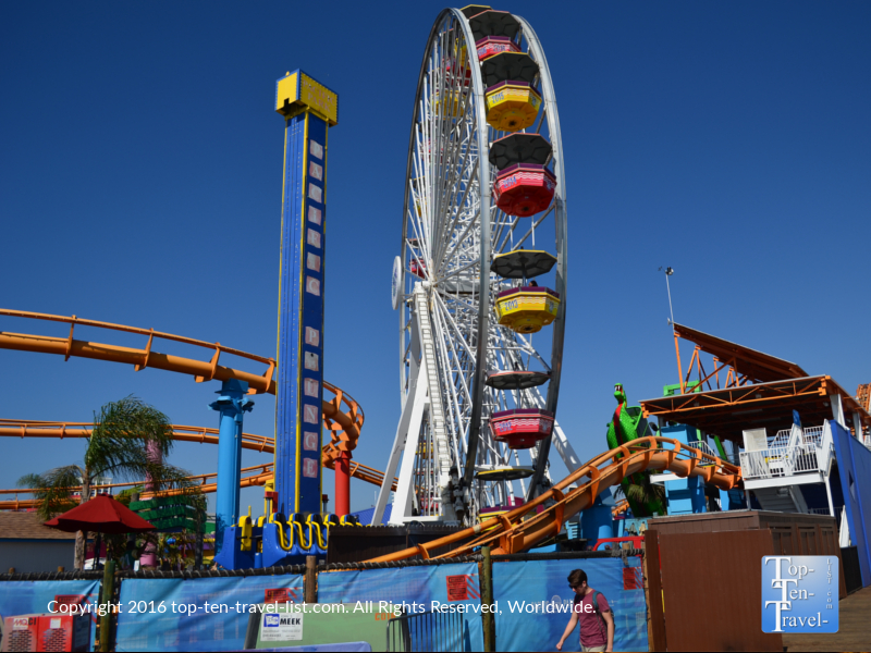 Rides at the Santa Monica Pier Amusement Park