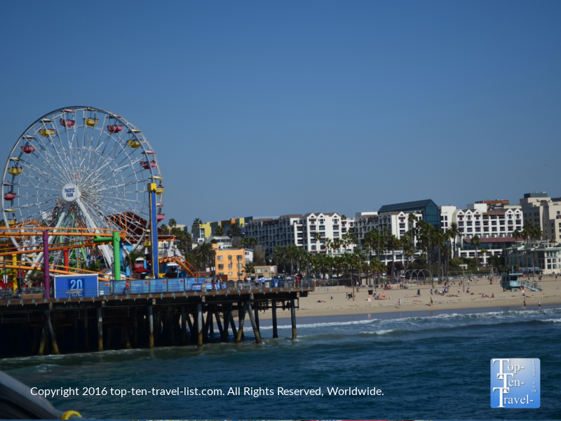 The Santa Monica Pier Amusement Park
