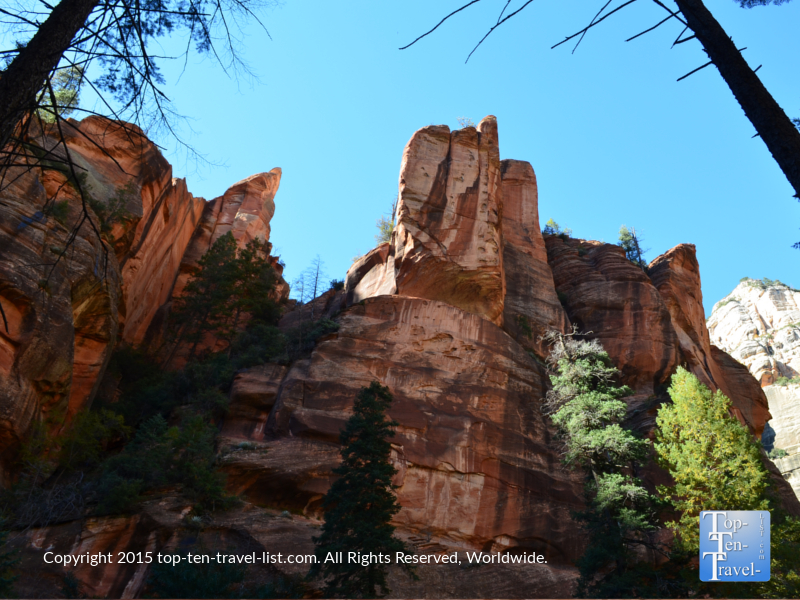 Amazing red rock views along The West Fork Trail in Oak Creek Canyon