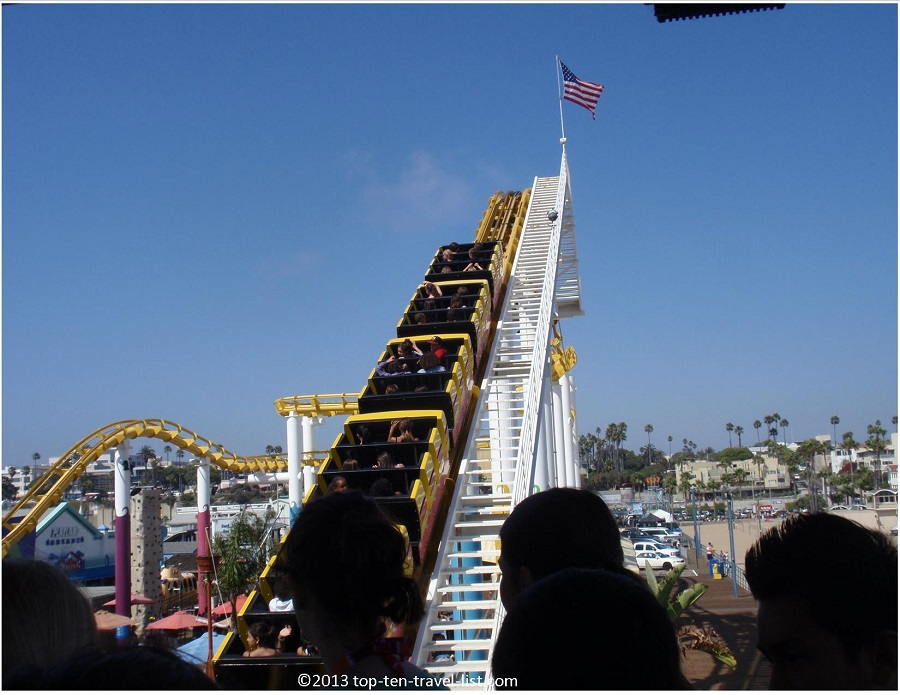 Rollercoaster at the Santa Monica Pier
