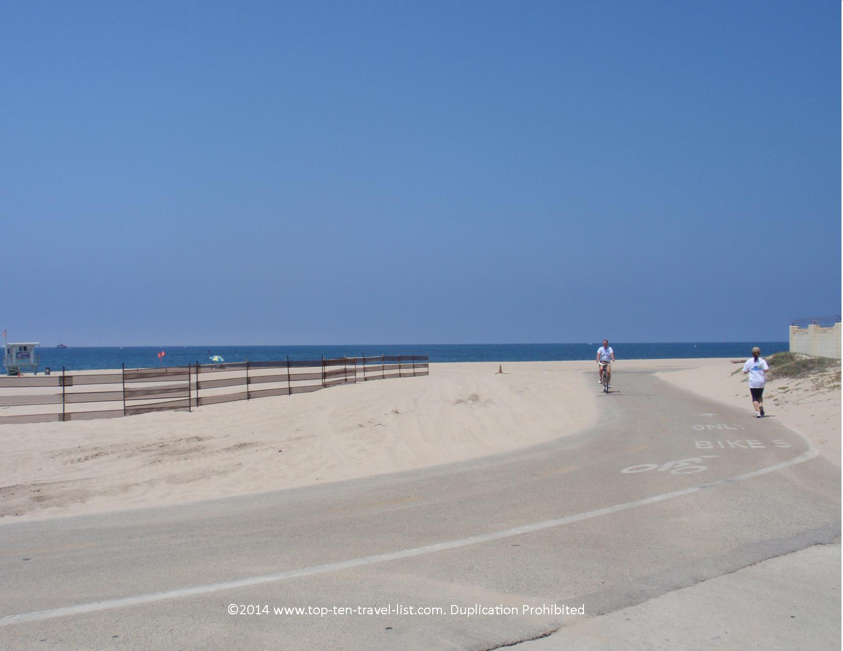Coastal views along The Strand Bike Path in L.A.