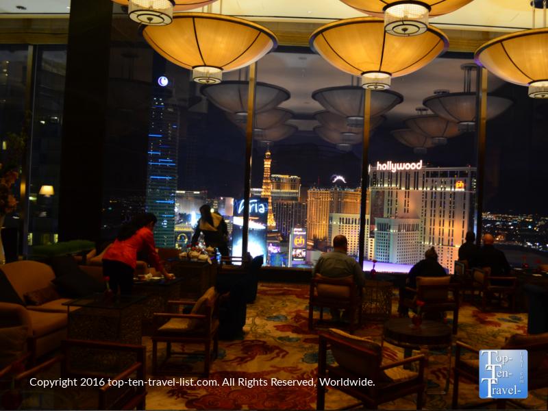 The amazing Mandarin Oriental Tea Room in Las Vegas, Nevada