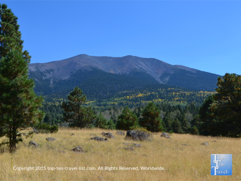 Wonderful views of the mountains from the Bismark Lake Trail in Flagstaff, Arizona