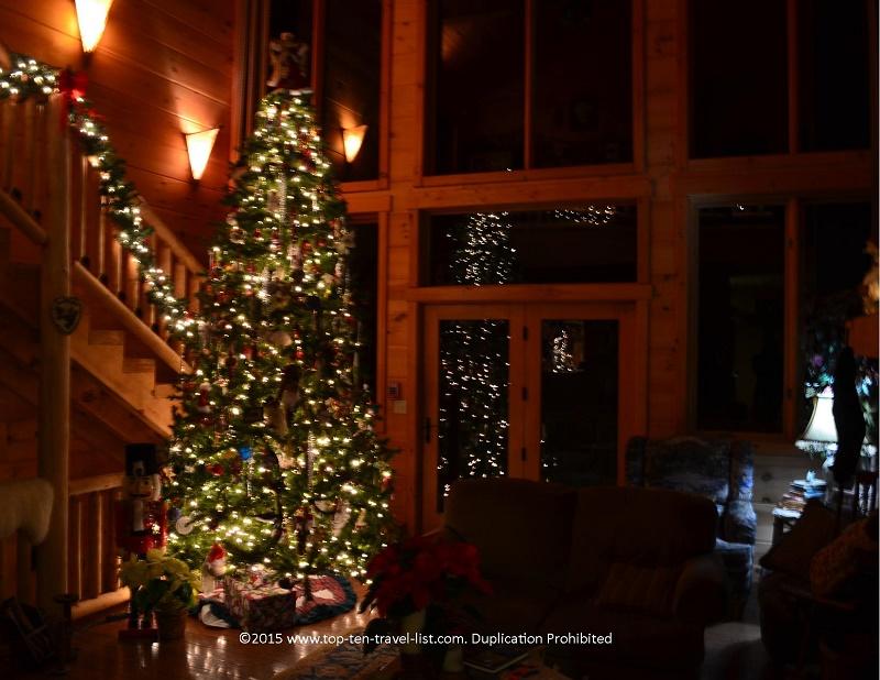 The Lazy Bear Lodge in Western North Carolina at Christmas