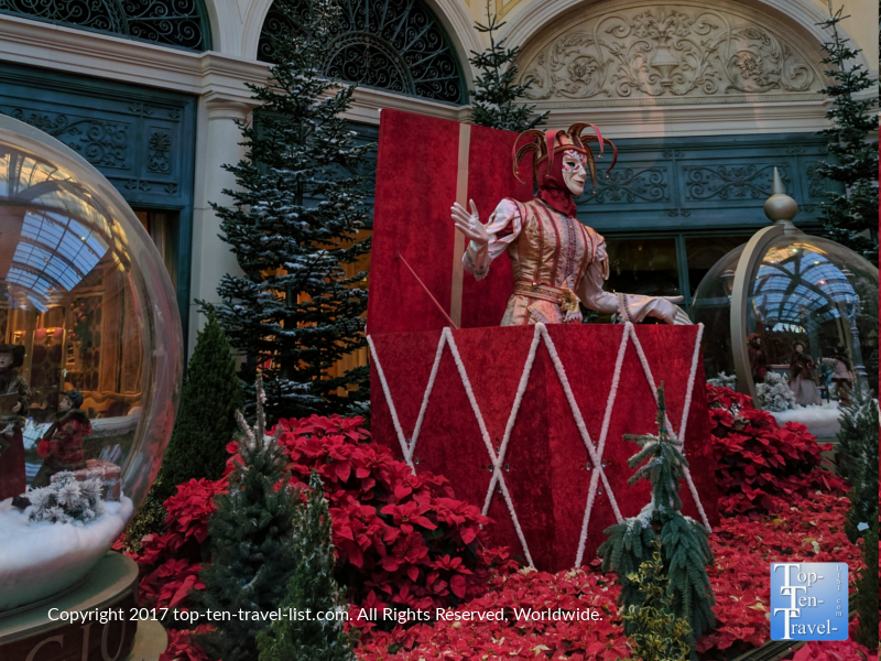 Amazing holiday display at the Bellagio Gardens