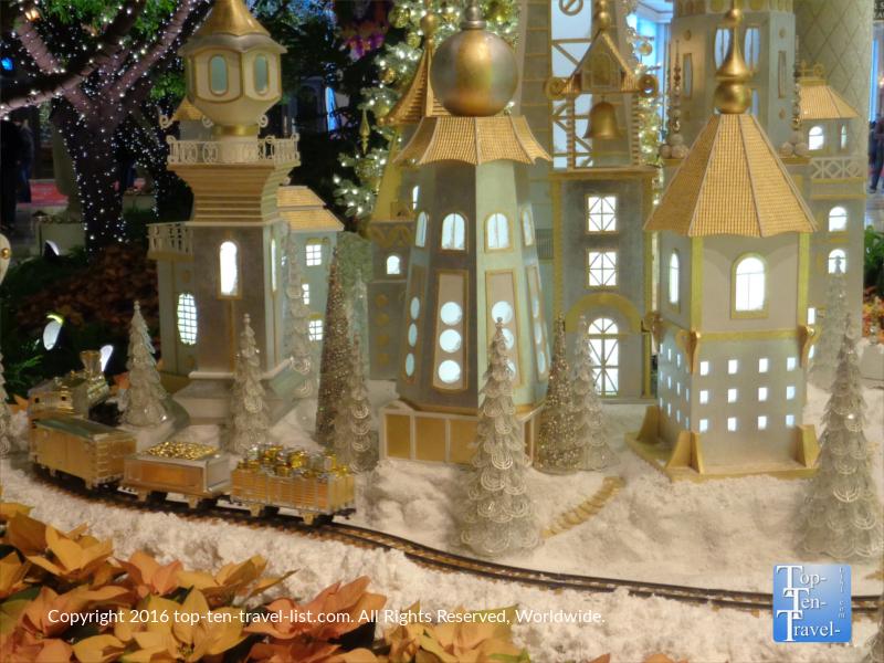 Beautiful Christmas display at The Wynn in Vegas