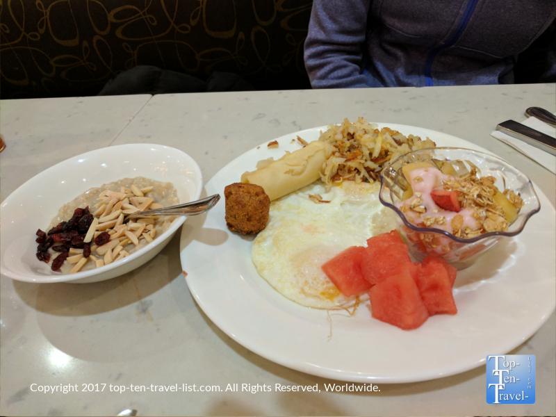 Breakfast spread at the Palms buffet in Vegas