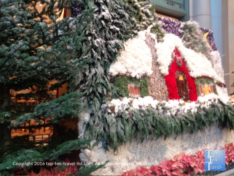 Christmas photo opp at the Bellagio Gardens