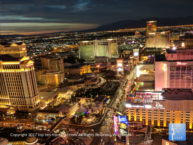 Fantastic sunset views of Vegas from the Eiffel Tower Experience