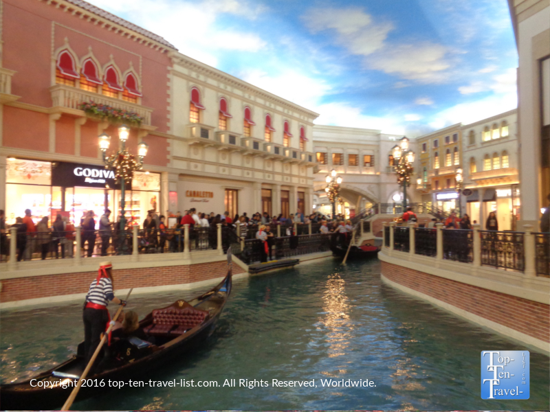 Gondola ride at the Venetian Grand Canal Shoppes in Las Vegas