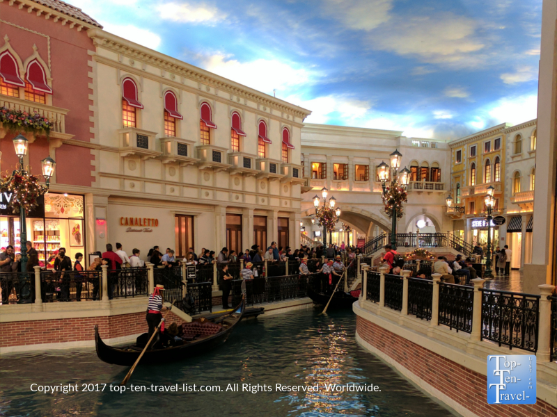 Gondola rides at the Venetian in Vegas