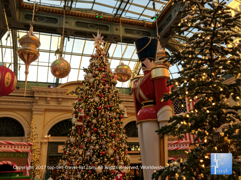 Gorgeous Bellagio Christmas display in Vegas