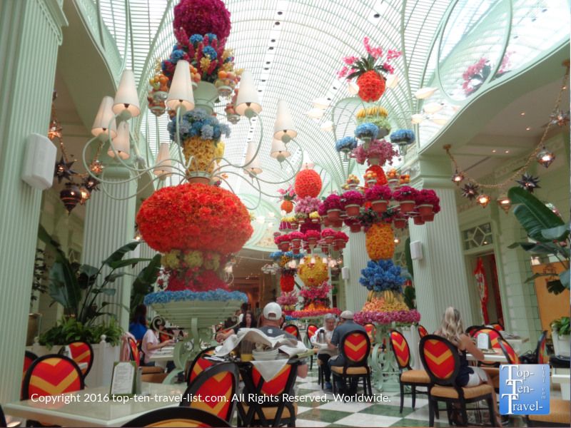 Gorgeous decor at The Wynn Buffet in Las Vegas NV
