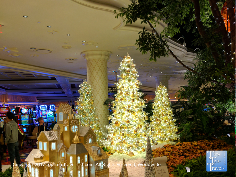 Gorgeous holiday decor at The Wynn in Las Vegas