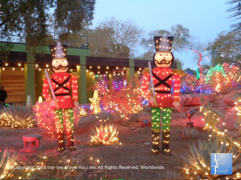 Holiday light display at Ethel M Chocolates in Henderson NV