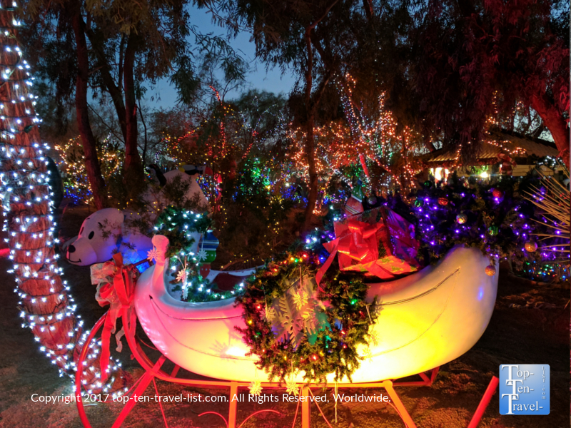 holiday lights at ethel m chocolates in henderson nevada