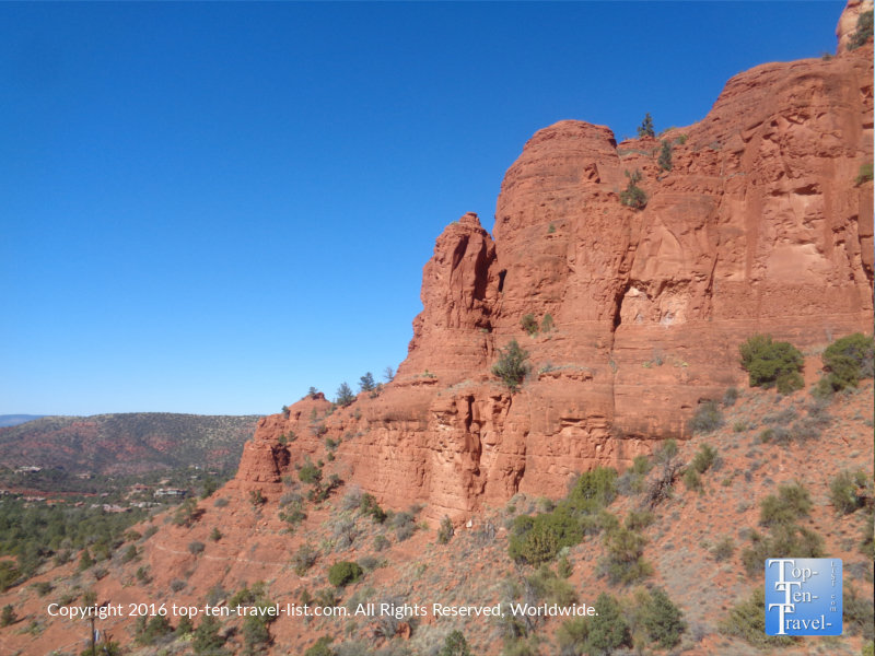 Incredible red rock views from The Chapel of the Holy Cross in Sedona AZ