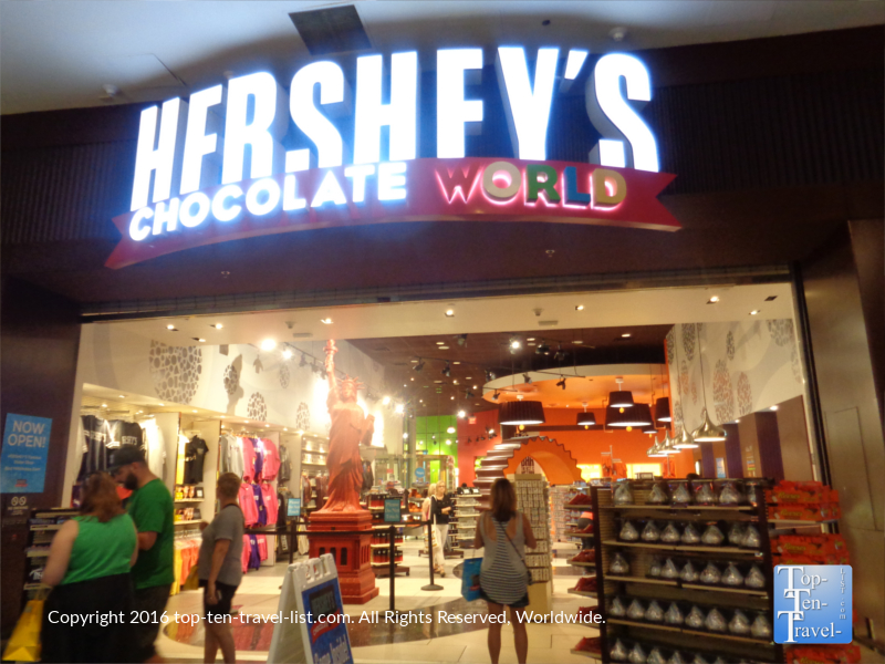 Licorice statue of liberty at Hersheys Chocolate World in Las Vegas