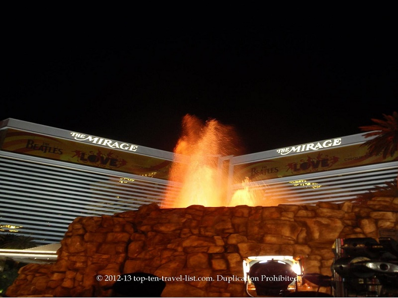 The Mirage volcano show in Vegas