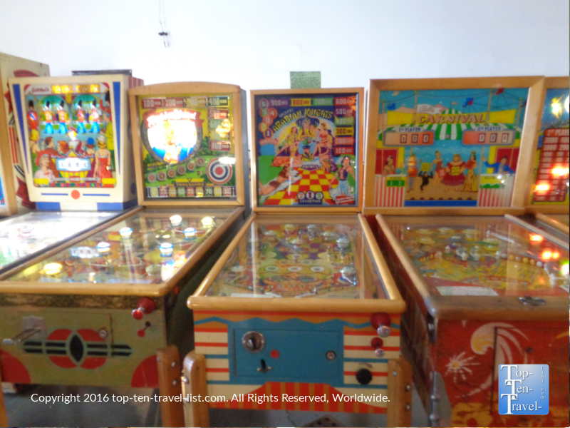 Old time pinball machines at the Las Vegas Pinball Museum