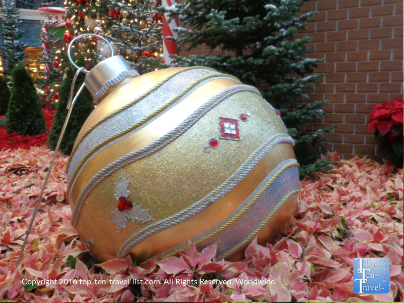 Ornament decor at Bellagio Gardens