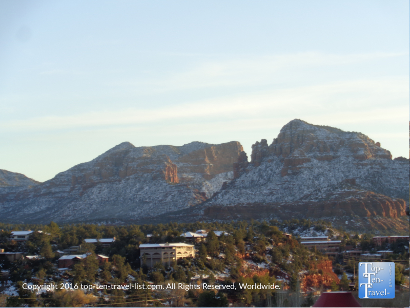 Great views of the red rocks with snow in Uptown Sedona