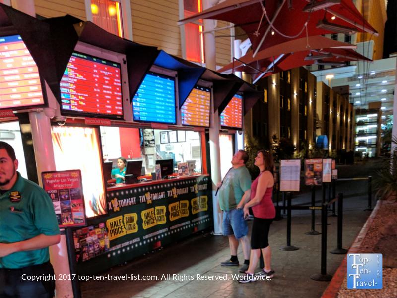 Tix 4 Tonite booth in Las Vegas