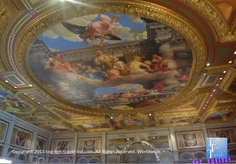 Gorgeous painted ceilings at The Venetian in Las Vegas, Nevada
